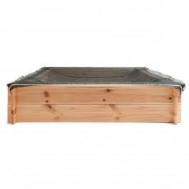 Woody Pískoviště dřevěné - čtvercové, natur, se sítí, 120x120cm