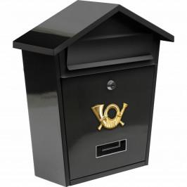 Vorel Poštovní schránka se stříškou černá ,38 x 32 x 10,5 cm