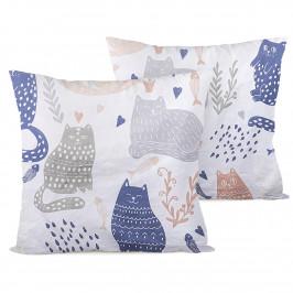 4home Povlak na polštářek Nordic Cats, 40 x 40 cm