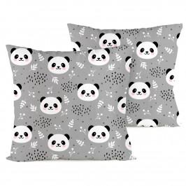 4home Povlak na polštářek Nordic Panda krep, 40 x 40 cm