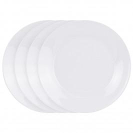 4dílná sada mělkých talířů White, 24 cm