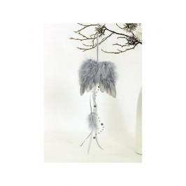 Andělská křídla z peří 12 x 35 cm, šedá