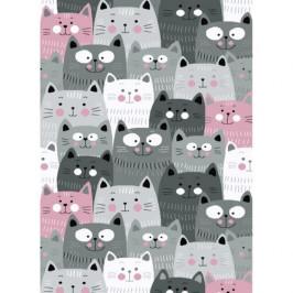 Vopi Kusový dětský koberec Kiddo 1079 pink, 120 x 170 cm