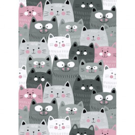 Vopi Kusový dětský koberec Kiddo 1079 pink, 80 x 150 cm
