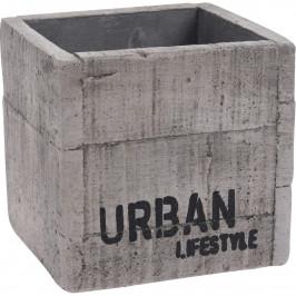 Cementový obal na květináč Urban lifestyle, 12 x 11,5 cm