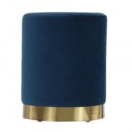 Tempo Kondela Taburet, modrá Velvet látka/gold chrom-zlatá, ALAZ