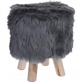Taburet Fluffy, šedá