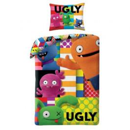 Halantex Dětské bavlněné povlečení Ugly Dools Patchwork, 140 x 200 cm, 70 x 90 cm