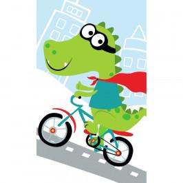 Carbotex Dětský ručník Krokodýl na kole, 30 x 50 cm