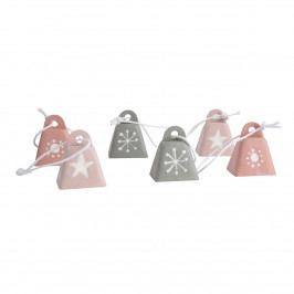 Altom Sada kovových vánočních ozdob Bells, 6 ks