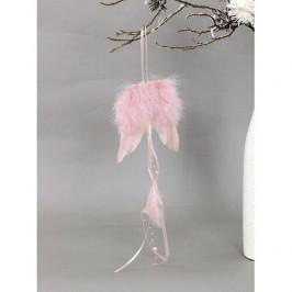 Andělská křídla z peří 12 x 35 cm, růžová