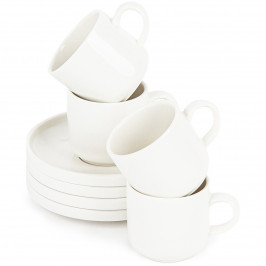 Mäser Sada porcelánových šálků s podšálky VADA, 100 ml, 4 ks