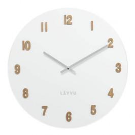 LAVVU WHITE LCT4070 dřevěné hodiny