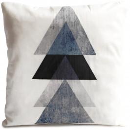 Jahu Polštářek Black Trojúhelníky, 40 x 40 cm