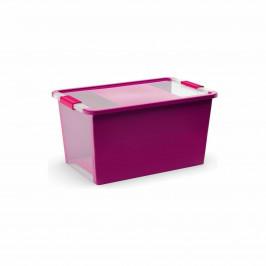 Úložný Bi box M, plastový  26 litrů průhledný/fialový