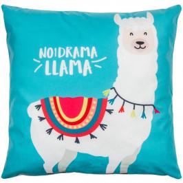 Jahu Polštářek Lama modrá, 40 x 40 cm