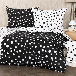 4Home Bavlněné povlečení Dalmatin černobílá, 140 x 200 cm, 70 x 90 cm