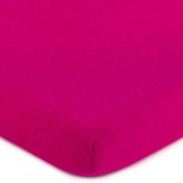 4Home Jersey prostěradlo růžová, 60 x 120 cm