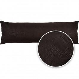 4Home Povlak na relaxační polštář Náhradní manžel Doubleface černá, 45 x 120 cm