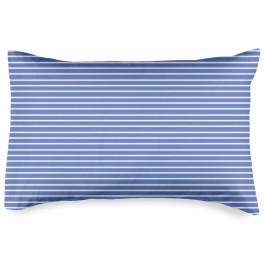 4home Povlak na polštářek Pruhy modrá, 50 x 70 cm