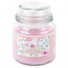 Arome Velká vonná svíčka ve skle French Rose, 424 g
