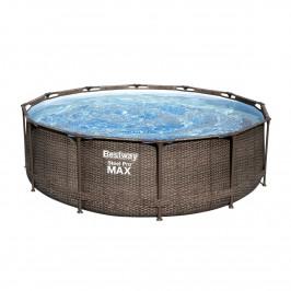 Bestway Nadzemní bazén Steel Pro MAX Ratan s filtrací a schůdky, pr. 366 cm, v. 100 cm