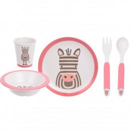 5dílná dětská jídelní sada, Zebra