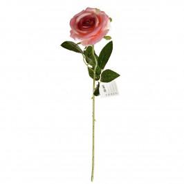 Umělá sametová růže růžová, 60 cm