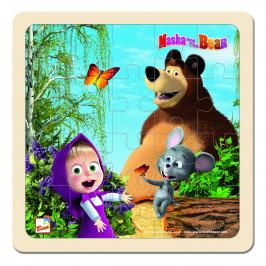 Bino Puzzle Máša a medvěd s myškou, 20 x 20 cm