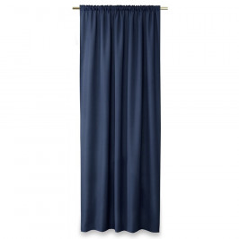AmeliaHome Závěs Oxford Pleat navy, 140 x 250 cm