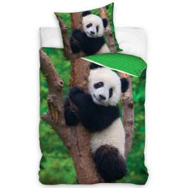 Tiptrade Dětské bavlněné povlečení Medvídek Panda, 140 x 200 cm, 70 x 90 cm