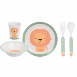 5dílná dětská jídelní sada, Lev