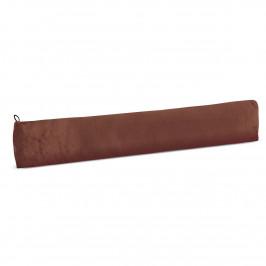 Bellatex Ozdobný těsnicí polštář LIN UNI hnědá, 90 x 15 cm