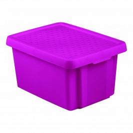 Curver Úložný box s víkem ESSENTIALS 16 l, fialová