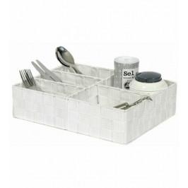 Organizér na prádlo a doplňky Compactor TEX - 5 dílný, 32 x 25 x 8 cm, bílý