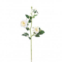 Umělá anglická růže bílá, 69 cm