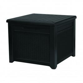 Keter Zahradní úložný box Cube Rattan šedá, 208 l