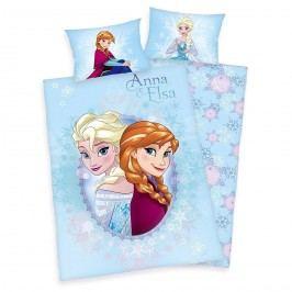Herding Dětské flanelové povlečení Ledové království Frozen Anna a Elsa, 100x135 40x60 cm