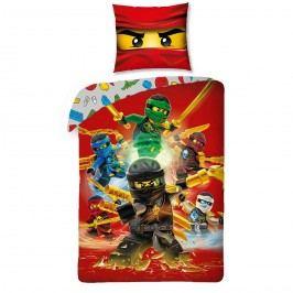 Halantex Dětské bavlněné povlečení Lego Ninjago red, 140 x 200, 70 x 90 cm