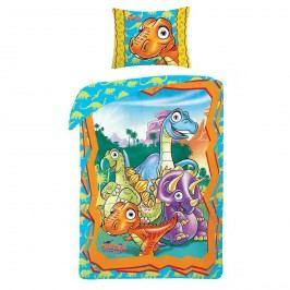 Halantex Dětské bavlněné povlečení Dinosaurus Club, 140 x 200, 70 x 90 cm