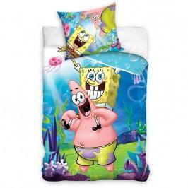 Carbotex Dětské povlečení SpongeBob a Patrick 140x200 70x80