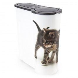 Dóza na krmivo pro kočky Kotě, 4 l, plast