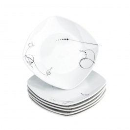 Domestic 6dílná sada dezertních talířů Chanson, 19 cm
