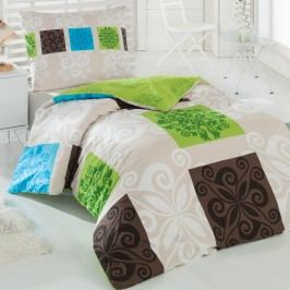 Bedtex bavlna povlečení Sedef zelená, 160 x 200 cm, 2ks 70 x 80 cm