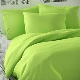 Saténové povlečení Luxury Collection světle zelená, 140 x 220 cm, 70 x 90 cm