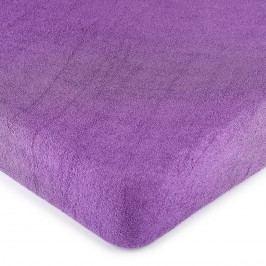 froté prostěradlo fialová, 180 x 200 cm