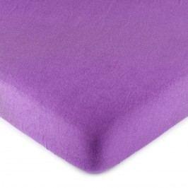 jersey prostěradlo fialová, 90 x 200 cm