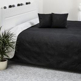 Přehoz na postel Doubleface bílá/černá, 220 x 240 cm, 40 x 40 cm