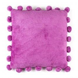 BO-MA Polštářek Pompon fialová, 45 x 45 cm,