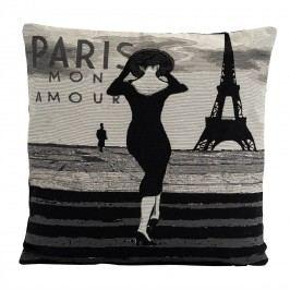 BO-MA Trading Povlak na polštářek Gobelín žena v Paříži, 45 x 45 cm